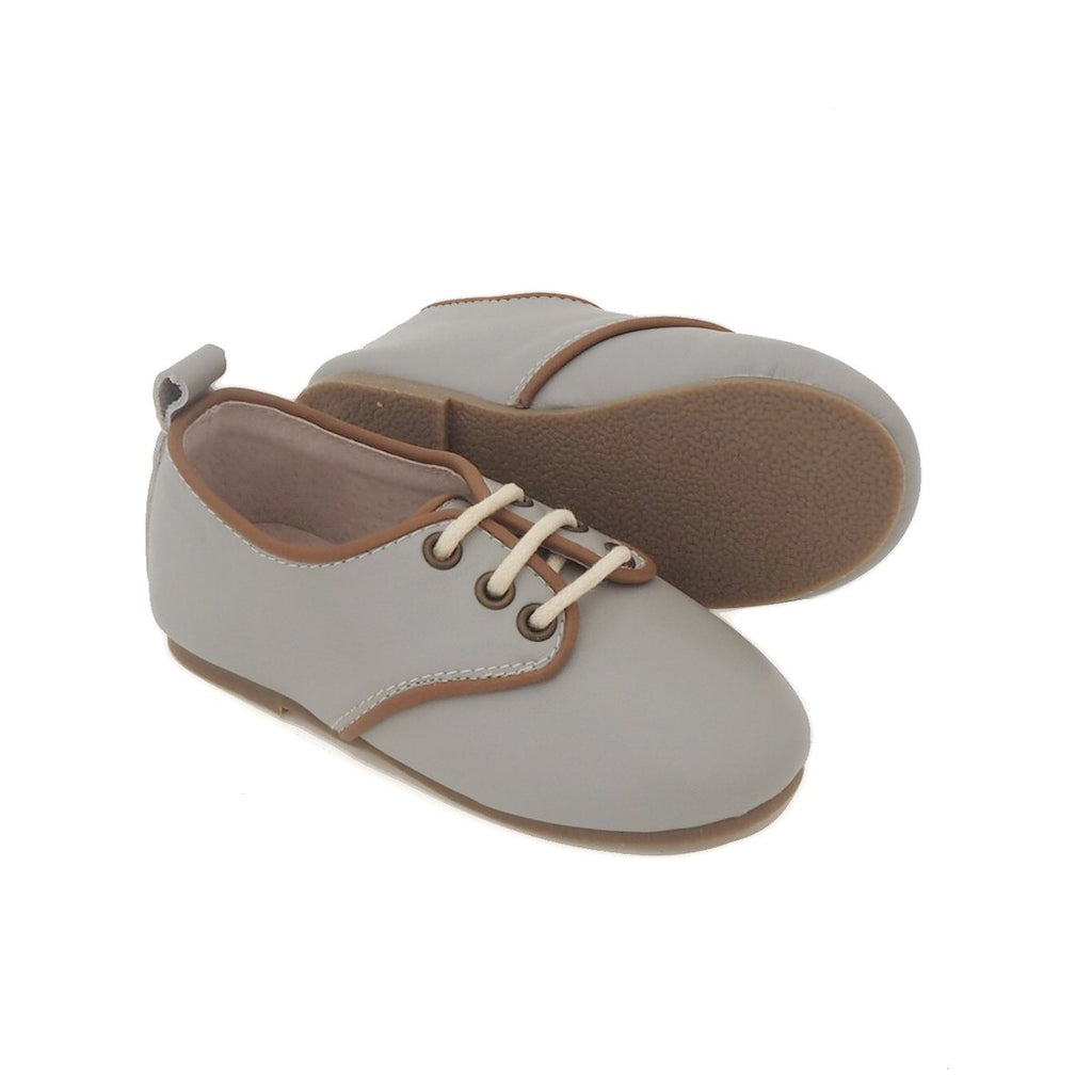 Children's Grey Oxford Shoes for Children & Kids. Natural Leather, super comfortable, quality, stylish boys & Girls Kit & Kate 3