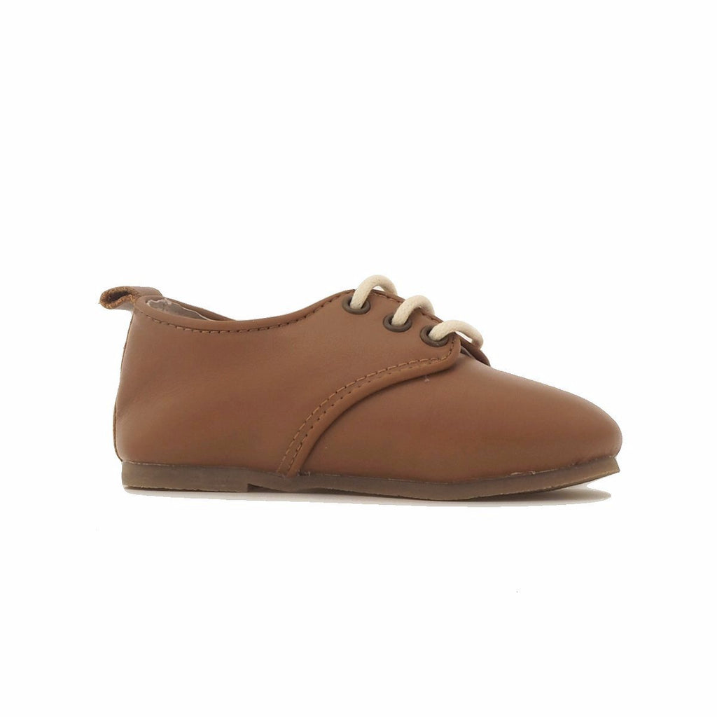 Children's Caramel Brown Tan Oxford Shoes for Children & Kids. Natural Leather, super comfortable, quality, stylish boys & Girls Kit & Kate 8