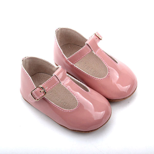 Baby Shoes - Paris baby t-bar shoes for babies & toddlers, soft soles natural leather 31