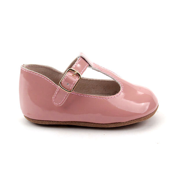 Baby Shoes - Paris baby t-bar shoes for babies & toddlers, soft soles natural leather 30