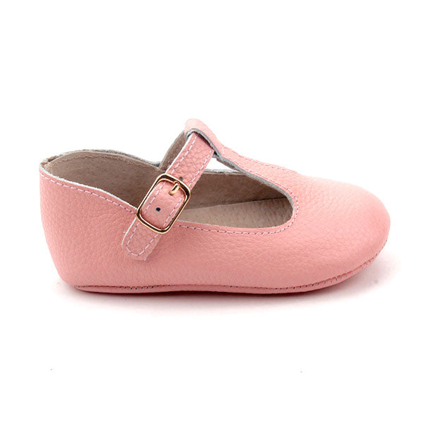 Baby Shoes - Paris baby t-bar shoes for babies & toddlers, soft soles natural leather 24