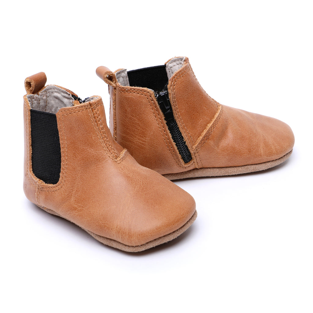 Baby Shoes, Leather Boots for Babies and Toddlers and First Walkers, Real Leather, Quality, Soft Soles boys & Girls Kit & Kate