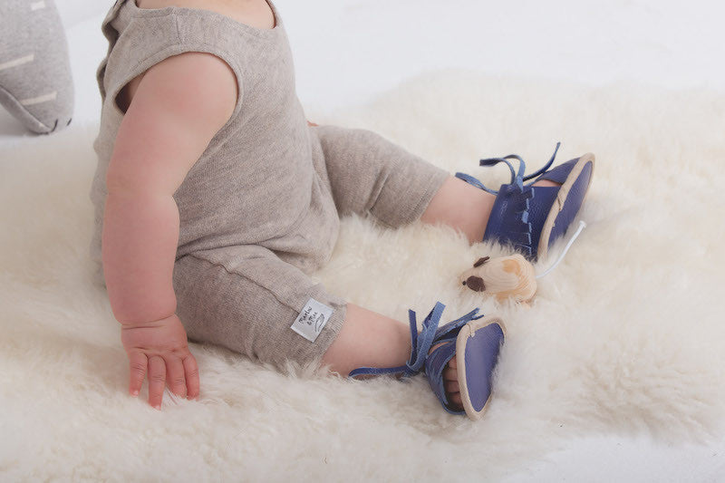 Baby Sandals - Cali Blue for babies toddlers and children, natural leather boys & girls, Kit & Kate Australia Perth 6