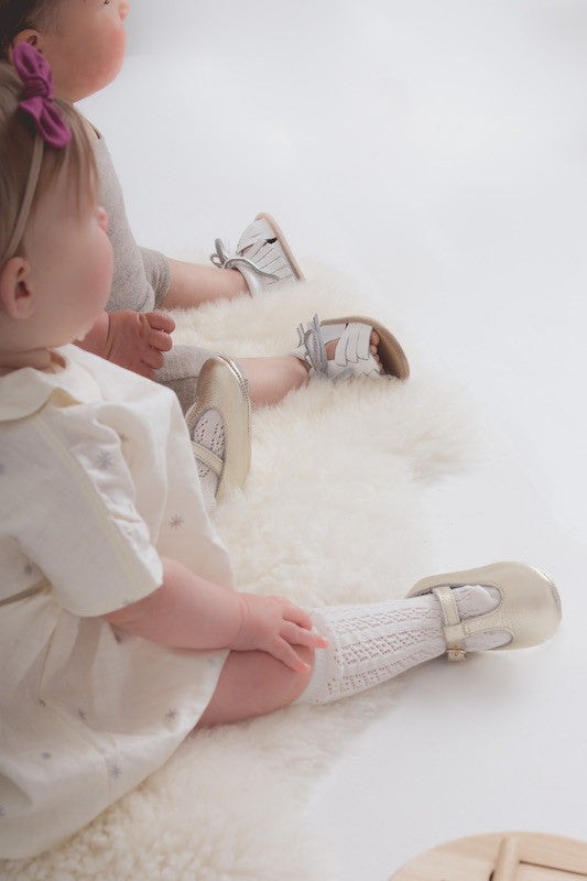 Baby Shoes - Gold Paris baby t-bar shoes for babies & toddlers little girls,, soft soles natural leather Kit & Kate c35
