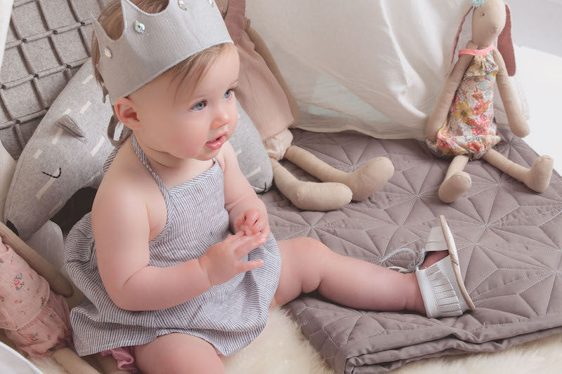 Baby Sandals - Cali White for babies toddlers and children, natural leather boys & girls, Kit & Kate Australia Perth 4