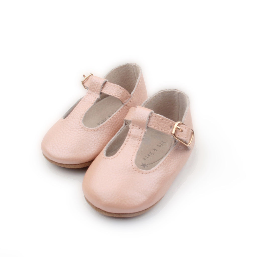 Baby Shoes - Paris baby t-bar shoes for babies & toddlers, soft soles natural leather 10