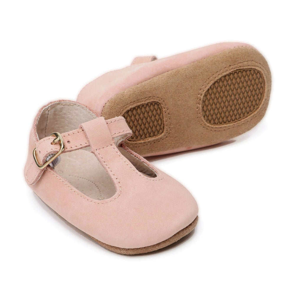 Baby Shoes - Paris baby t-bar shoes for babies & toddlers, soft soles natural leather 2