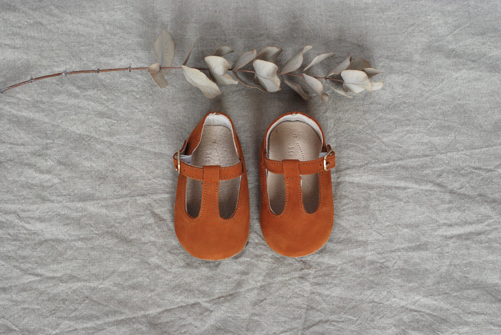 Baby Shoes - Paris baby t-bar shoes for babies & toddlers, soft soles natural leather 6