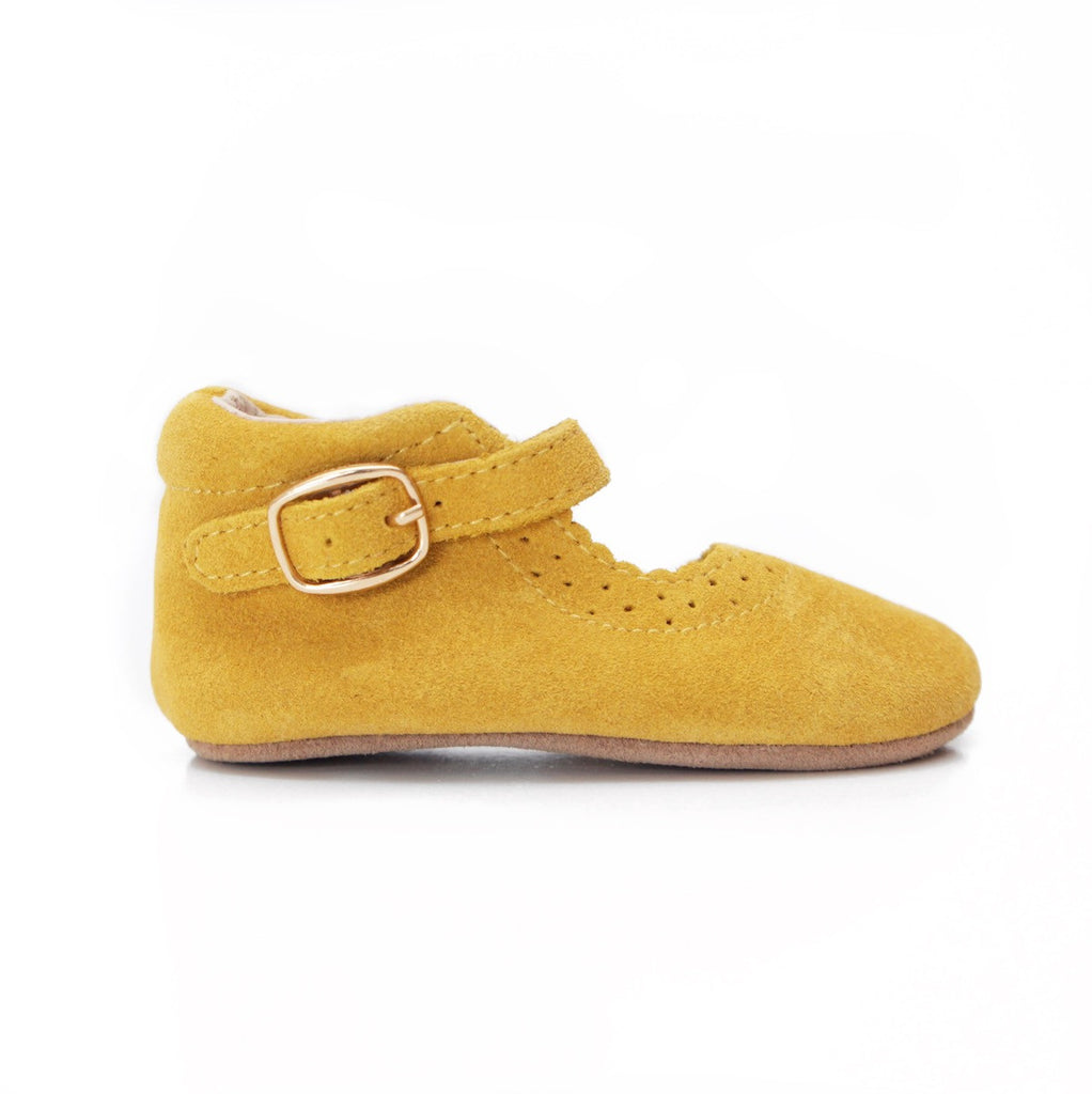 Baby Shoes - Eleanor Baby Mary-Janes - Shoes for babies & toddlers, soft soles natural leather 1