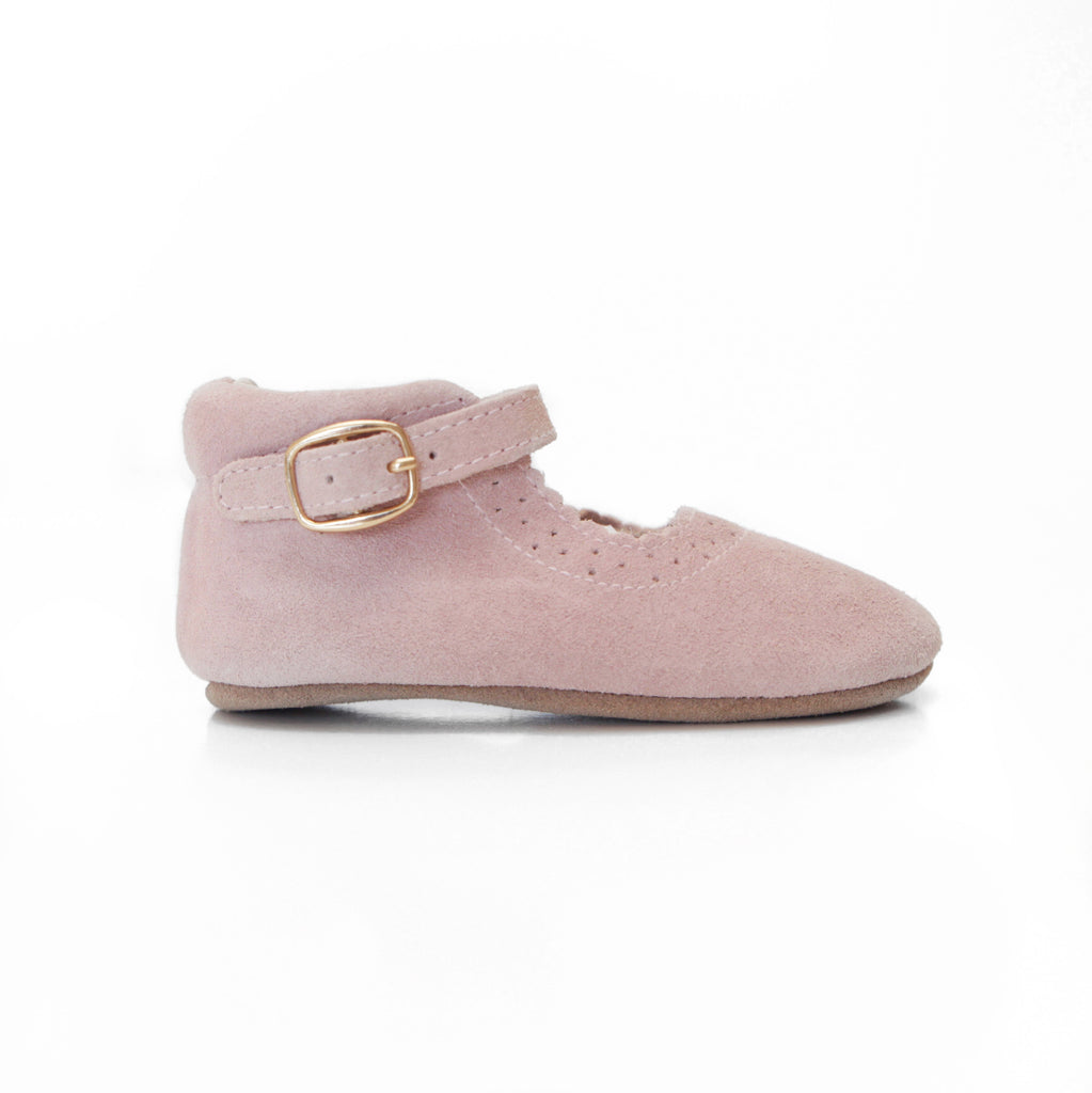 Baby Shoes - Eleanor Mary-Janes - Pink Shoes for babies & toddlers, girls, soft soles natural leather Kit & Kate 3