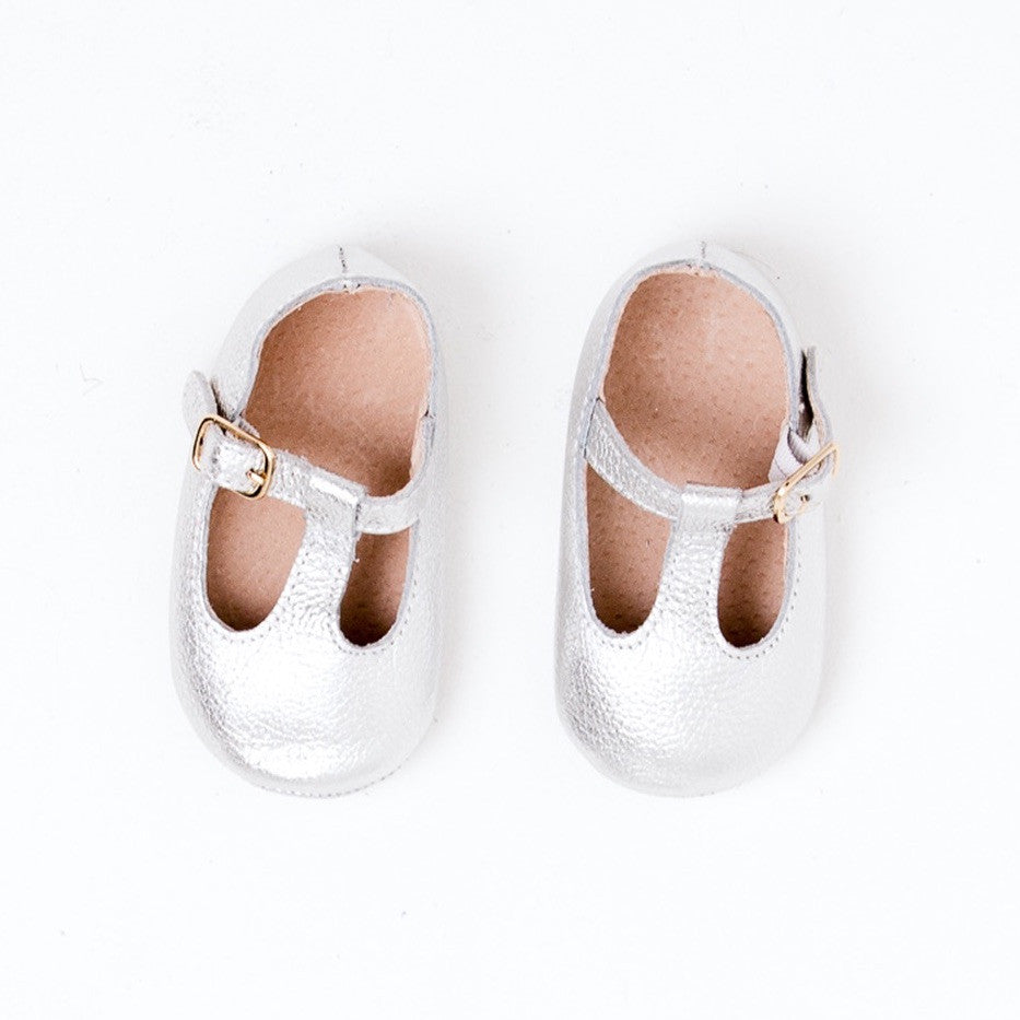 Baby Shoes - Paris baby t-bar shoes for babies & toddlers, soft soles natural leather 48