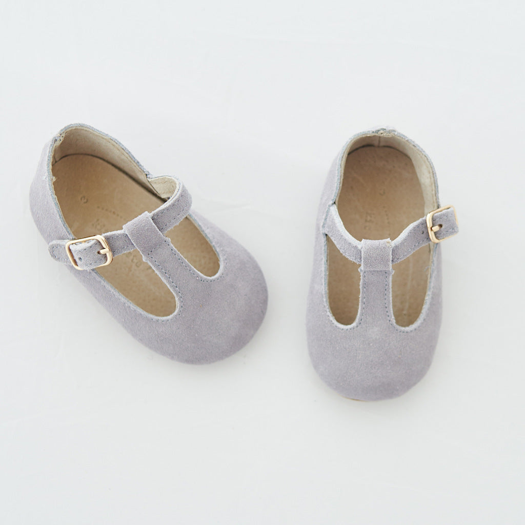 Baby Shoes - Paris baby t-bar shoes for babies & toddlers little girls,, soft soles natural leather light grey kit & kate 21