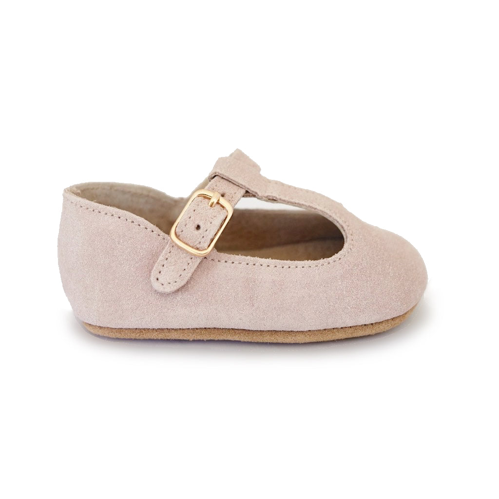 Baby Shoes - Paris baby t-bar shoes for babies & toddlers little girls,, soft soles natural leather light pink Kit & Kate c22
