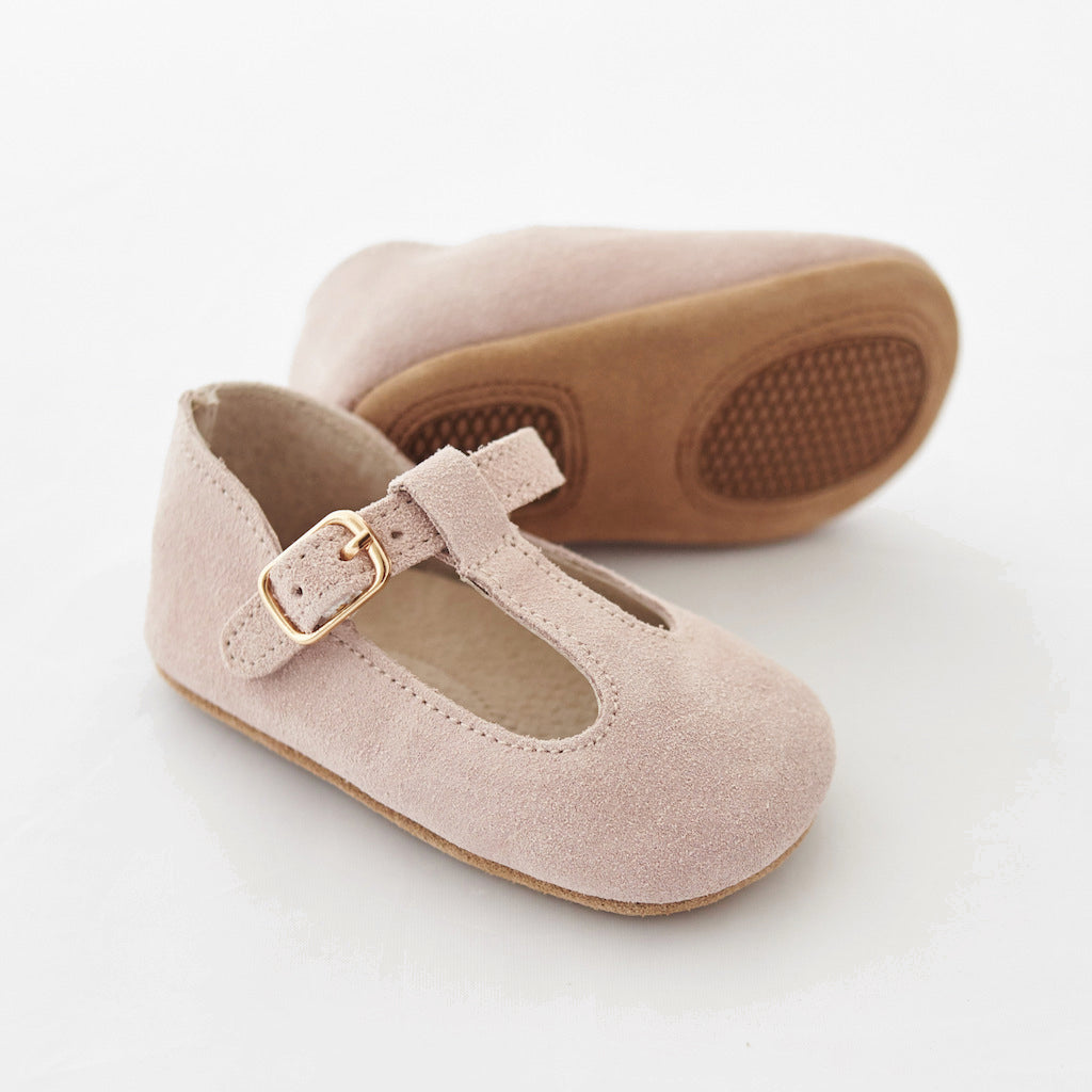 Baby Shoes - Paris baby t-bar shoes for babies & toddlers, soft soles natural leather 23