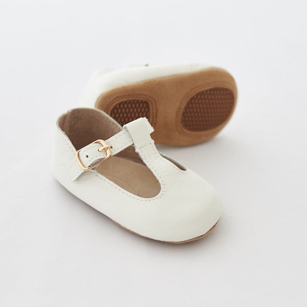 Baby Shoes - Paris baby t-bar shoes for babies & toddlers, soft soles natural leather 17