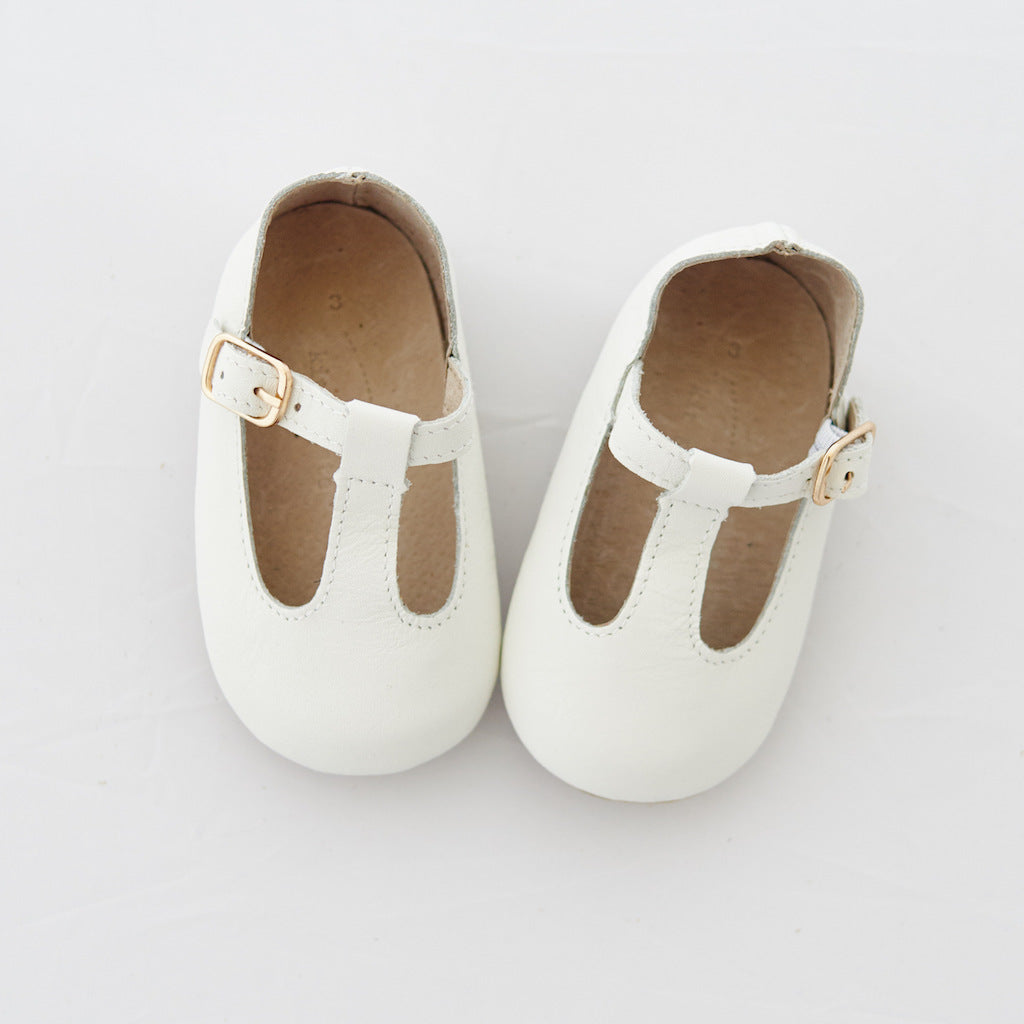 Baby Shoes - Paris baby t-bar shoes for babies & toddlers, soft soles natural leather 18