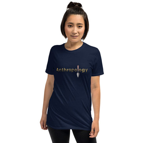 anthropology t shirt with a trowel