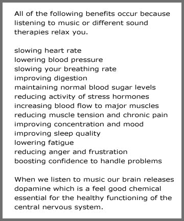 benefits of sound therapy