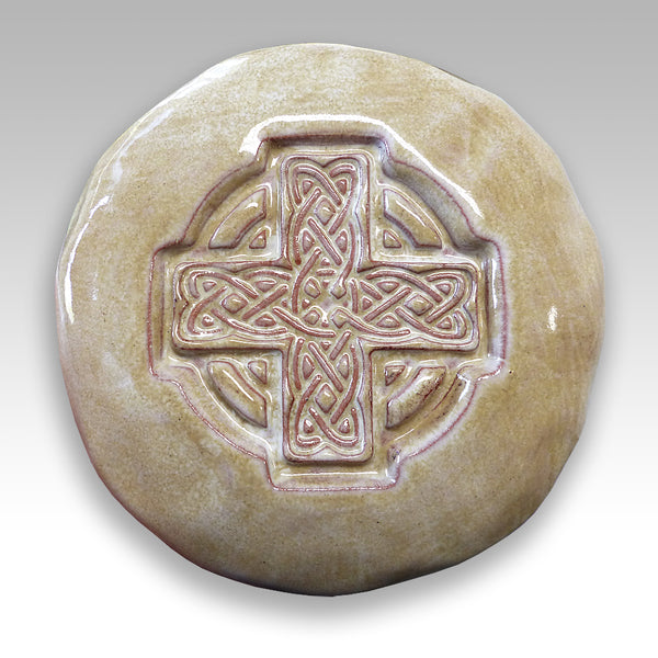 ceramic Irish Celtic Christian Cross symbol