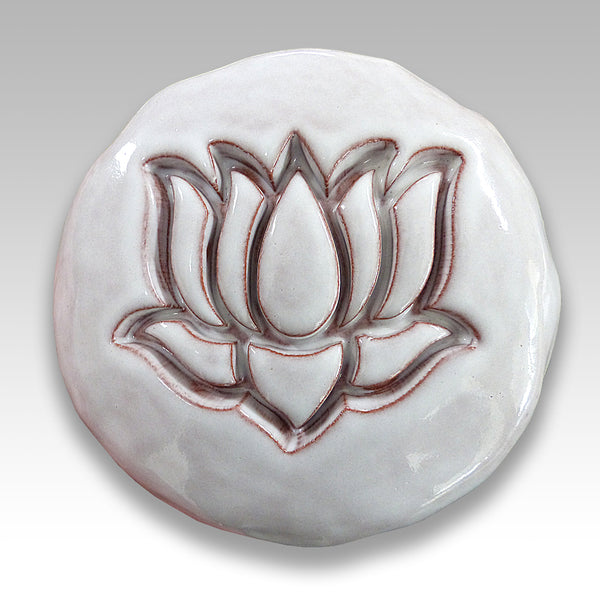 ceramic Lotus flower Buddhist meditation symbol
