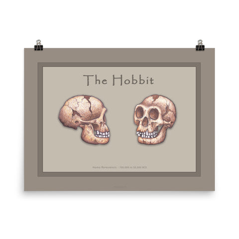 The Human Evolution series The Hobbit poster