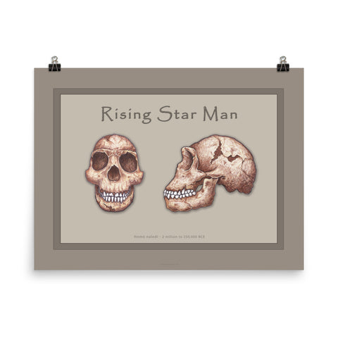 The Human Evolution series Rising Star Man Poster