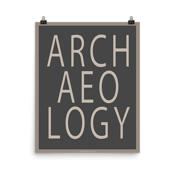 Archaeology Word Art Poster