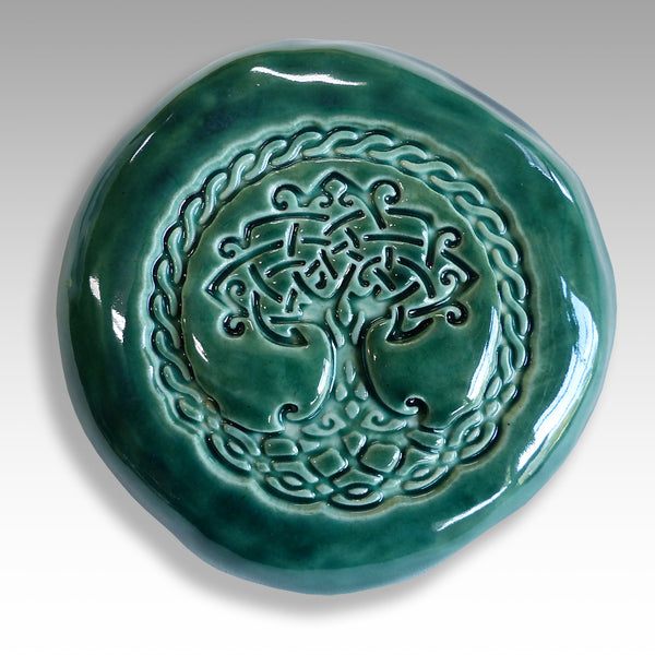 ceramic Celtic Tree of life talisman