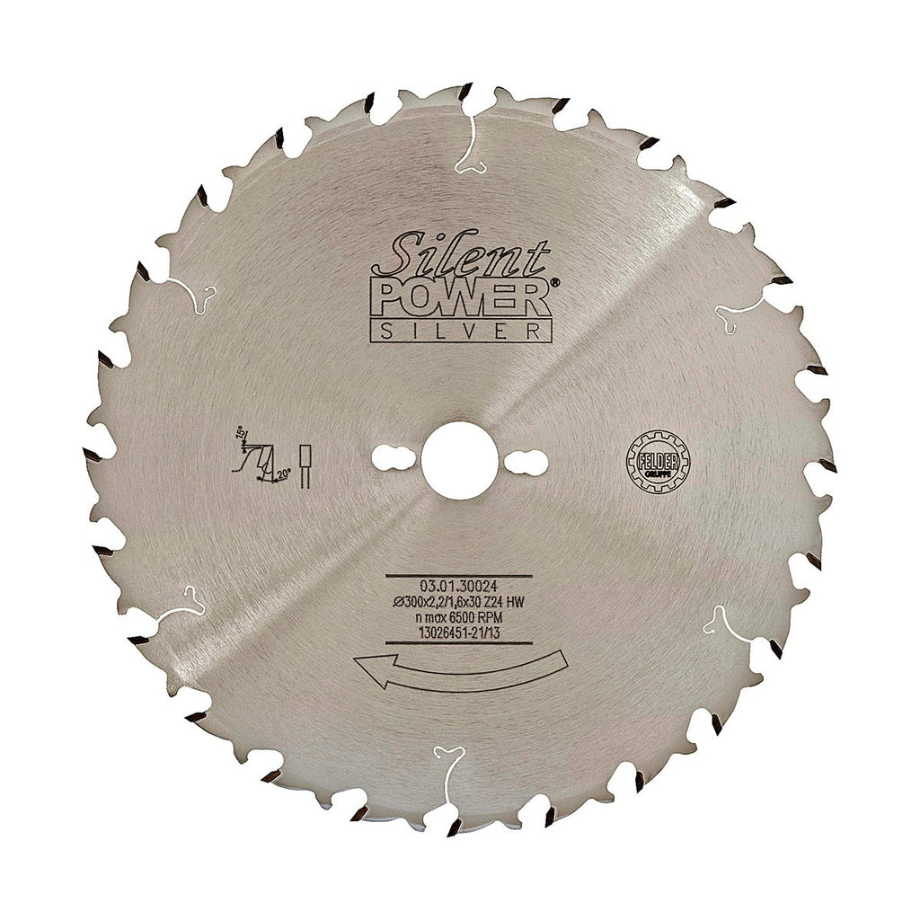 Felder Thin Kerf Universal Rip Saw Blade 300mm 24 Tooth 30mm Bore