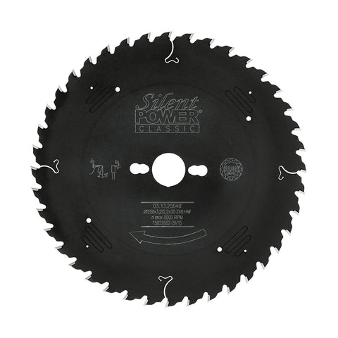 Felder Universal Saw Blade 250mm 40 Tooth 30mm Bore