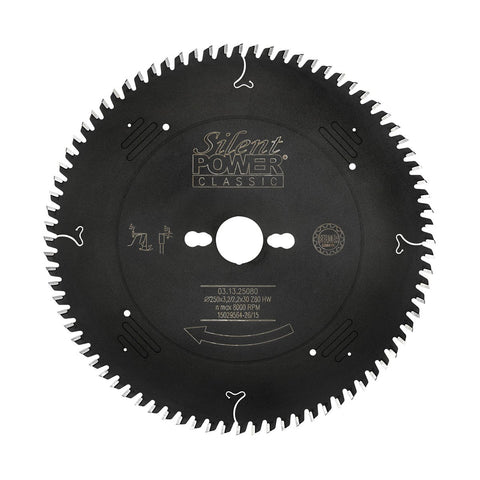 Felder Fine Sizing Cut Saw Blade 250mm 80 Tooth 30mm Bore