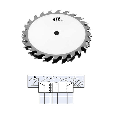 "FS Tool Standard 8"" Dado Set 24 Tooth - 5/8"" Bore"