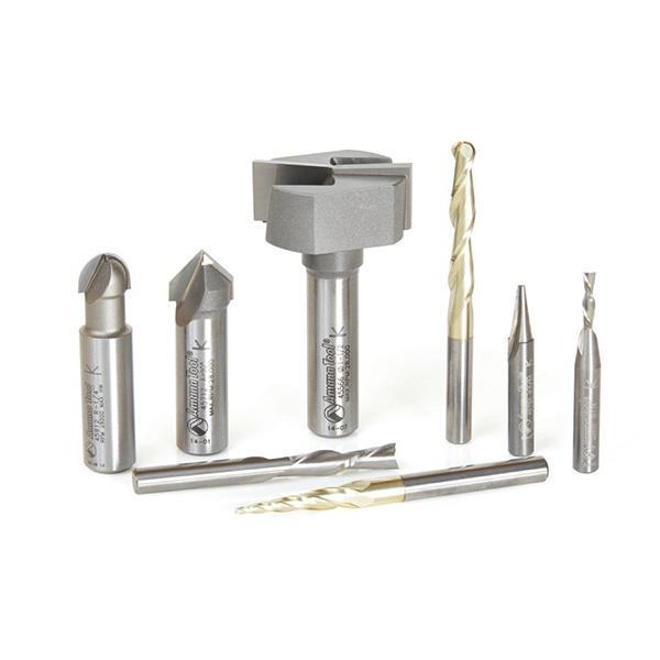 Axiom Precision 8pc CNC Bit Set by Amana Tool