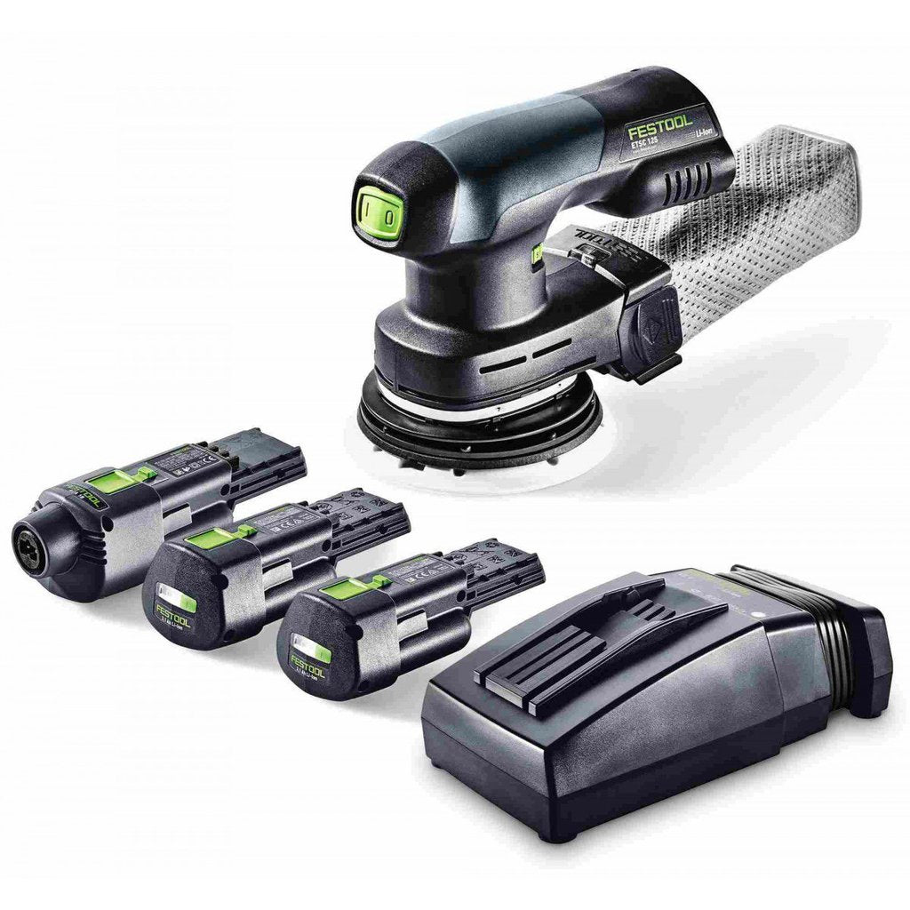 "Festool ETSC 125 18V Brushless Hybrid Cordless 5"" Sander Set"