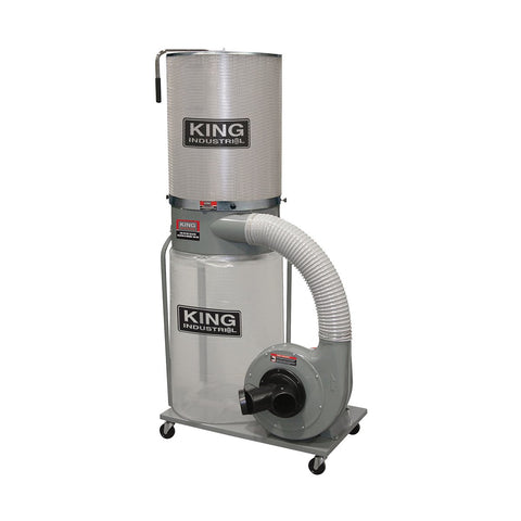 King Industrial 1,200 CFM Dust Collector with Canister Filter