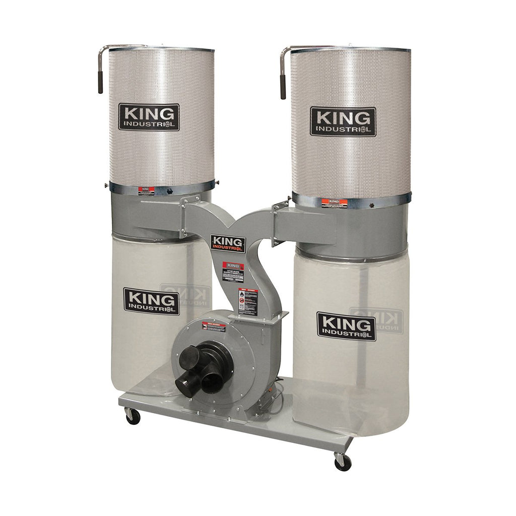 King Industrial 2280 CFM Dust Collector with Canister Filter