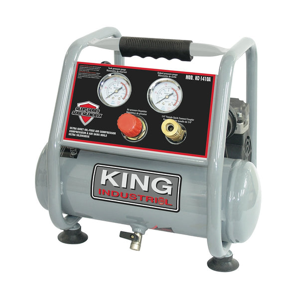 King Industrial Kc 1410a Ultra Quiet Oil Free Air