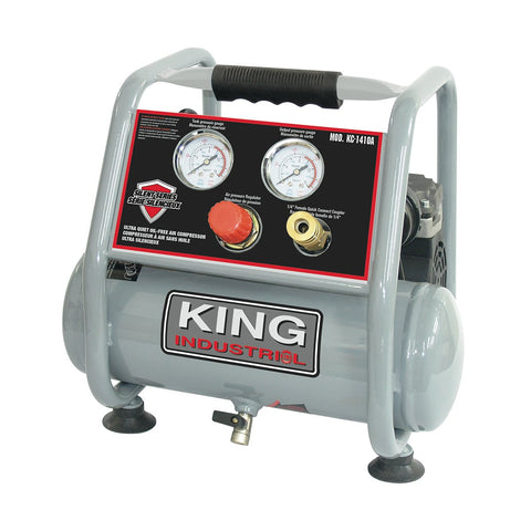King Industrial Ultra Quiet Oil Free Air Compressor