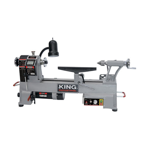 "King Industrial 12"" x 18"" Variable Speed Wood Lathe"
