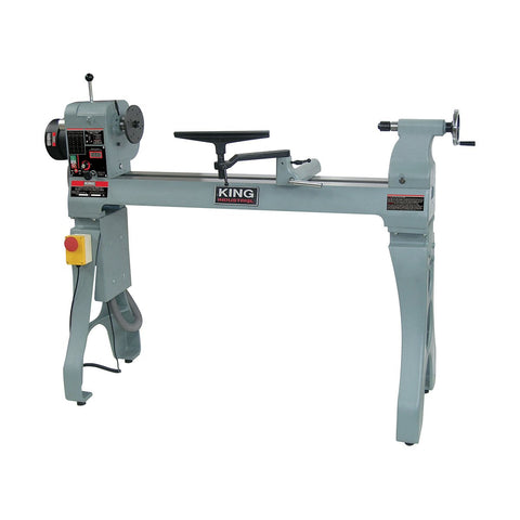 "King Industrial 16"" x 43"" Wood Lathe"