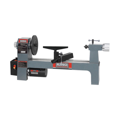 "King Industrial 8"" x 13"" Variable Speed Wood Lathe"