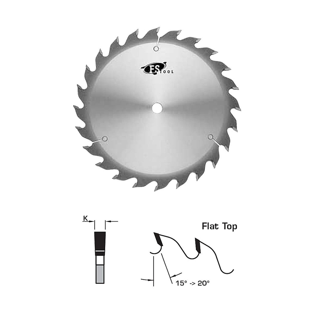 "FS Tool Thin Kerf Rip Saw Blade 10"" 24 Tooth 5/8"" Bore"