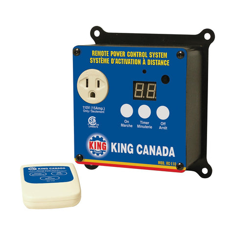 King Industrial 110V Remote Power Control System