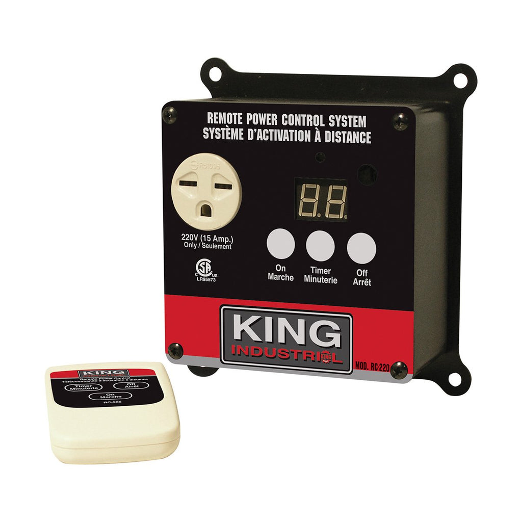 King Industrial 220V Remote Power Control System