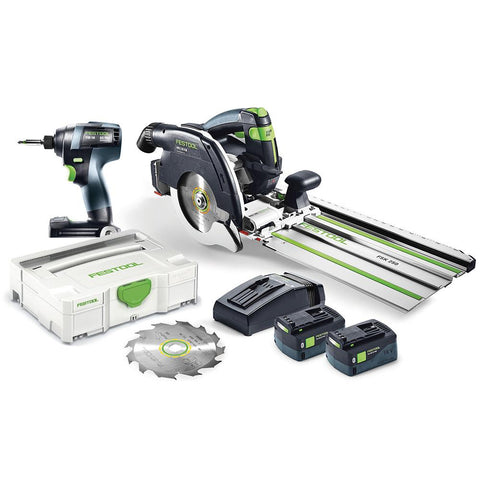 Festool TID 18 Impact Driver + HKC 55 Carpentry Saw Combo Kit