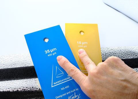Nano Hone Backing Plates shown sporting smart display of measurement