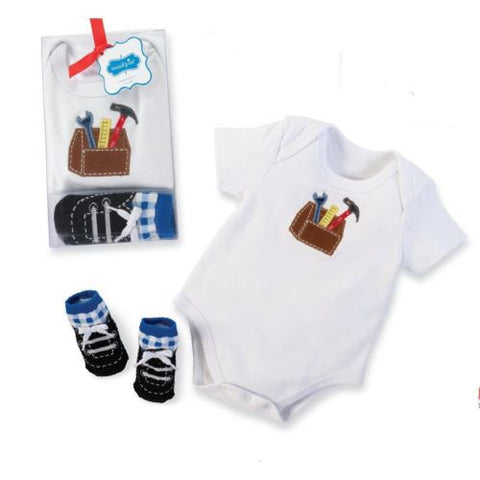 Mud Pie Baby All Boy Crawler And Sock Set