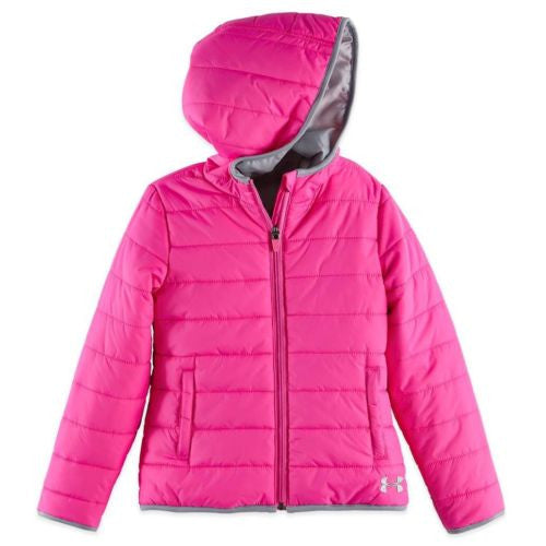 Under Armour Pink & Grey Puffer Jacket/Coat