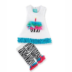 Mud Pie Wild Child Zebra Tunic & Capri Leggings