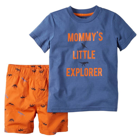 "Carters ""Mommy's Little Explorer"" 2pc Outfit"